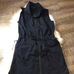 Lafayette 148 Zip Up Navy Dress